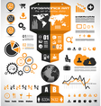 Infographic elements - set of paper tags vector image