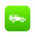 jeep icon digital green vector image