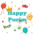 Jewish holiday Purim set vector image vector image