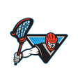 Lacrosse Player Crosse Stick vector image vector image
