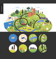 magical summer landscape vector image vector image