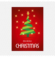 merry chrsimtas with red background and tree vector image vector image