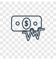 money concept linear icon isolated on transparent vector image