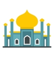 Muslim mosque icon flat style vector image vector image