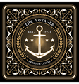 Nautical the voyager retro card vector image vector image