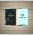 neon effect business card vector image vector image