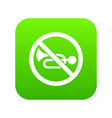 no horn traffic sign icon digital green vector image vector image