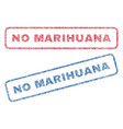 no marihuana textile stamps vector image vector image
