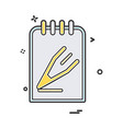 Notepad icon design
