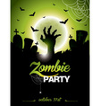 on a Halloween Zombie Party vector image vector image