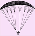 Paragliding parachute extreme sport vector image vector image