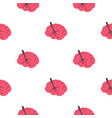 pink brain with fork pattern seamless vector image vector image