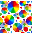 rainbow seamless pattern of multi-colored balls vector image vector image