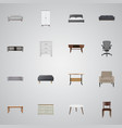 realistic console table chair and other vector image vector image