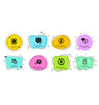 recovery data seo gear and cogwheel icons set vector image vector image