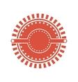 red circular art deco emblem vector image