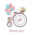 Retro Bicycle style with flowers and balloons vector image vector image