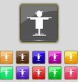 Scarecrow icon sign Set with eleven colored vector image