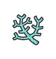 sea corals seaweed flat color line icon vector image