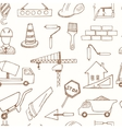 seamless pattern with doodle sketch architecture