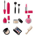 set cosmetics colorful vector image vector image