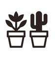 set flowers in pots vector image