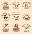 set of baseball emblems design element for logo vector image vector image
