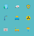 set of smart city icons flat style symbols with vector image