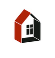 Simple architectural construction - house abstract vector image vector image