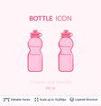 sport bottle icon isolated on white vector image vector image