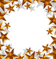 Stars border made in contemporary geometric style vector image vector image