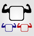 Textbox with flexing arms vector image vector image