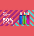 trendy cosmetic products banner with essence vector image vector image