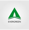 triangle with pine tree logo vector image vector image