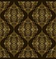vintage damask bohemian seamless pattern vector image