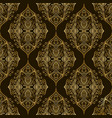 vintage damask bohemian seamless pattern with vector image vector image