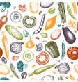 vintage vegetables background vector image