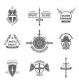 Heraldic coat of arms labels set vector image