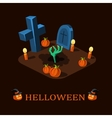 Rebellion Halloween zombie hand rises from the vector image