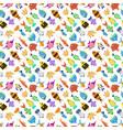 cute fish seamless pattern vector image