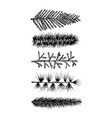 Set 5 hand drawn fir branch pine isolated vector image