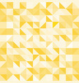 abstract yellow triangle and square in yellow or vector image vector image