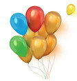an a set colourful birthday or party vector image vector image