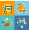 Auto service icon flat vector image
