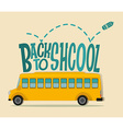 Back to school theme with schoolbus vector image
