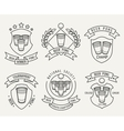 Beer pong line logo set vector image vector image