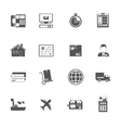 Black and white logistic service icon vector image
