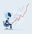 businessman working hard to success vector image vector image