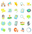 buzz icons set cartoon style vector image vector image