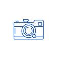 camera line icon concept camera flat vector image vector image